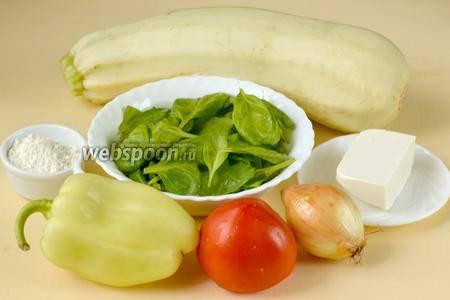 Вегетарианские тушеные кабачки и помидоры в мультиварке