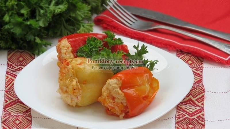 Фаршированный перец в томатно-сметанном соусе - 13 пошаговых фото в рецепте