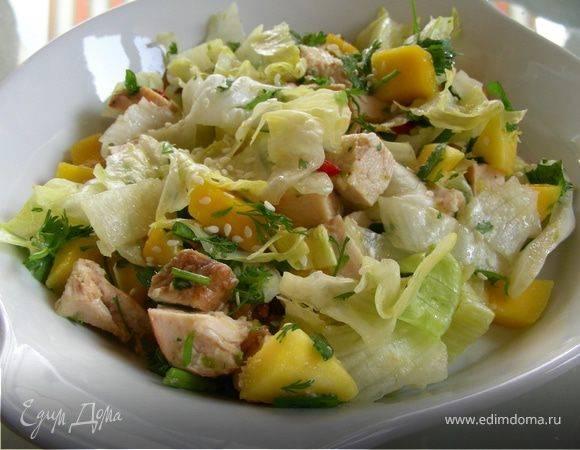 Салат с манго (простой с курицей с авокадо): рецепты с фото