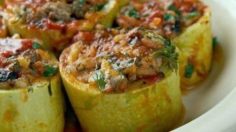 Кабачки, тушеные с рисом и овощами - 13 пошаговых фото в рецепте