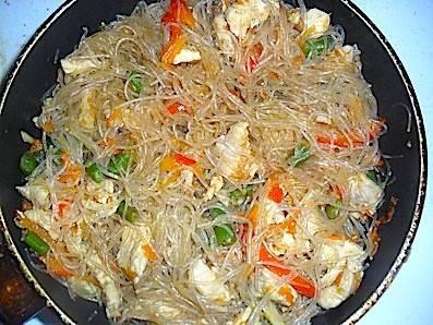 Салат с фунчозой рецепт с фото с овощами
