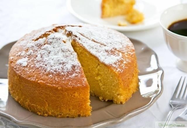 """Сочный апельсиновый пирог """"для любознательных"""""""