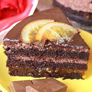 Пирог с апельсиново-банановой начинкой