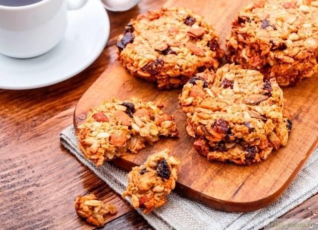 Печенье с изюмом рецепт с фото пошагово рецепт