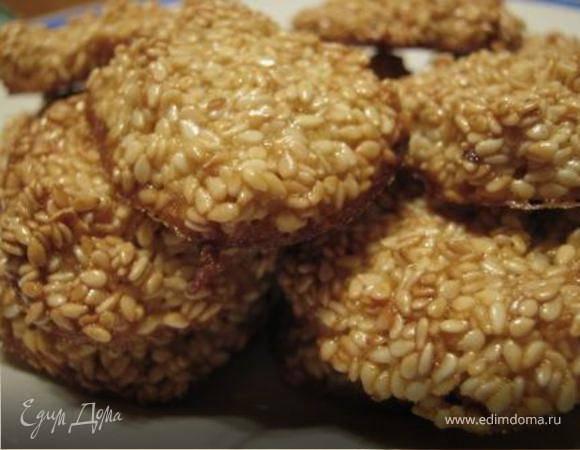 Печенье с кунжутом без муки