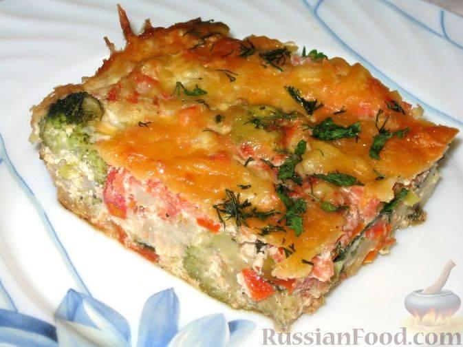 Картофельная запеканка с куриным суфле