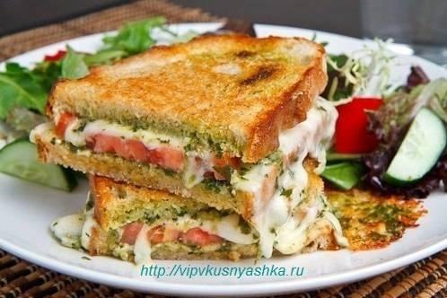 Как приготовить бутерброд – гриль капрезе? пошаговый рецепт с фото.
