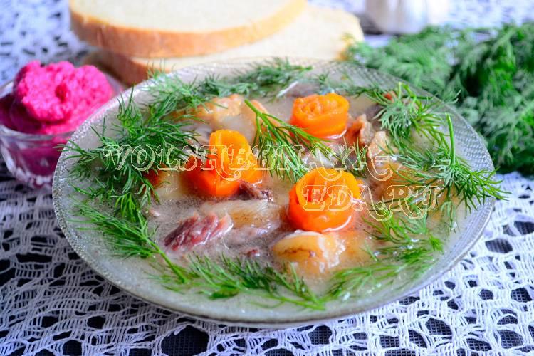 Холодец из свиных ножек и курицы: рецепты с фото