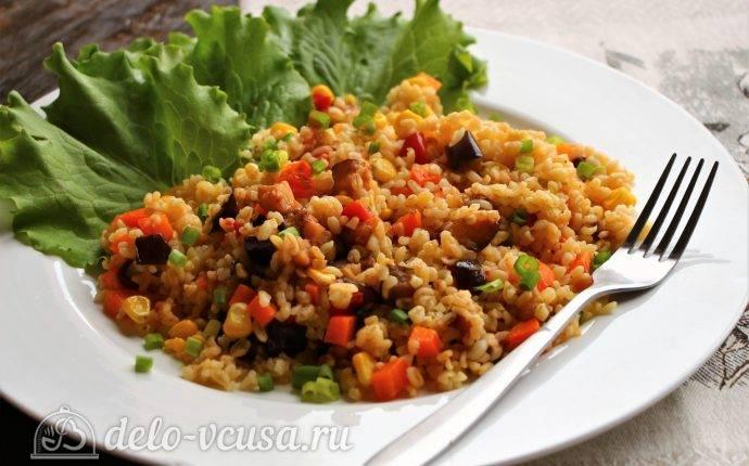 Рецепты булгур с овощами и курицей