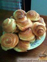 Пышные домашние булочки с мёдом к чаю