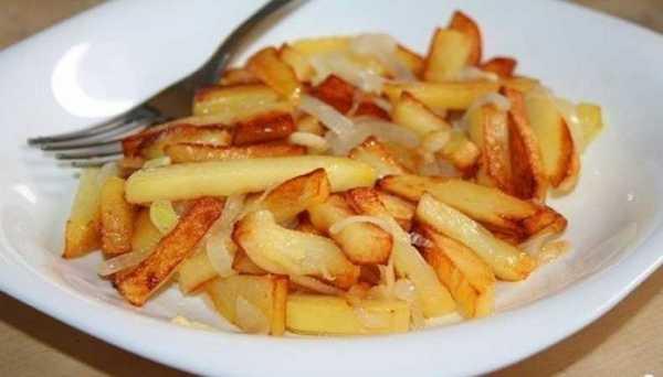 Жареная картошка со свиным салом