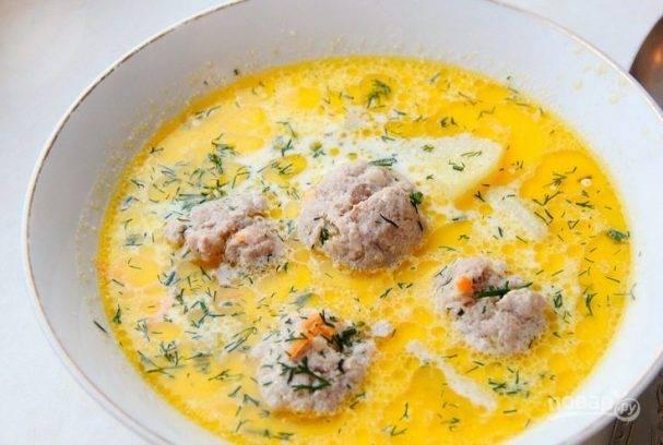 Суп с фрикадельками картофельный
