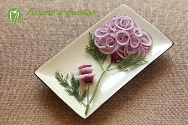 Маринованный лук к шашлыку - самые вкусные рецепты лучшей закуски к мясу