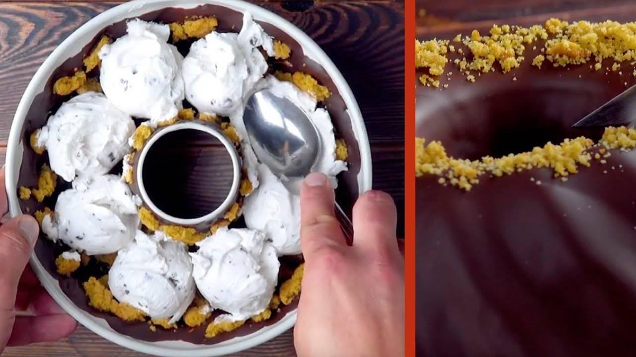 Летний десерт в вафельных рожках