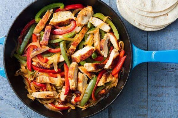 Фахитас с курицей и болгарским перцем - ярко и вкусно