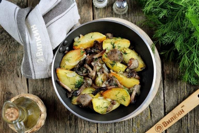 """Картофель с опятами и базиликом """"аппетитный"""""""