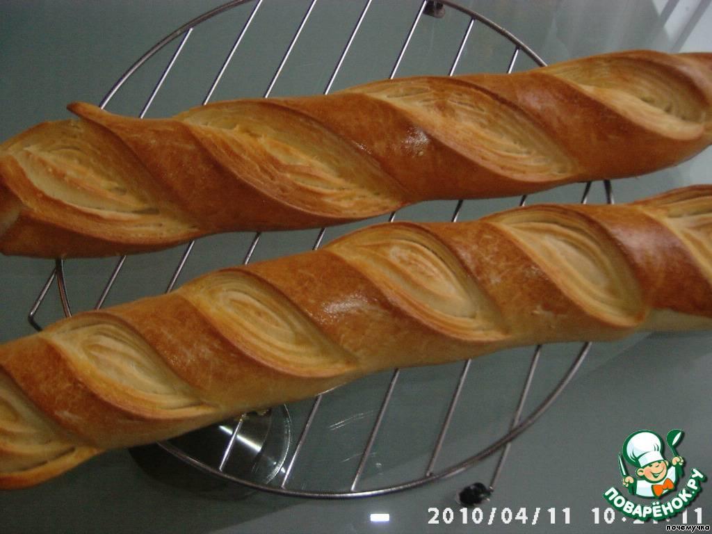 Домашний французский багет в духовке