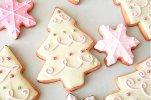 Медово-имбирное печенье с сахарной глазурью
