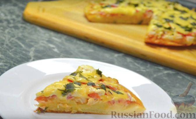 Быстрая пицца на сковороде, рецепт за 10 минут