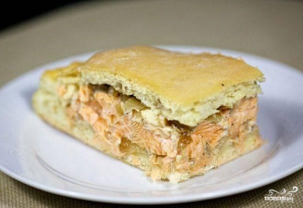 Простой рыбный пирог