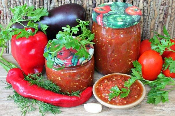 Жареные баклажаны в аджике на зиму - 6 пошаговых фото в рецепте