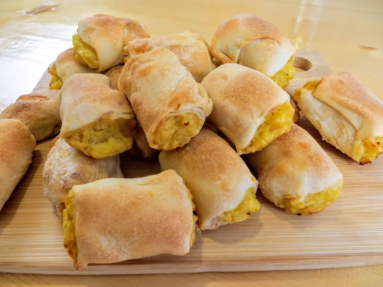 Ленивые пирожки с капустой и яйцом, рецепт с фото