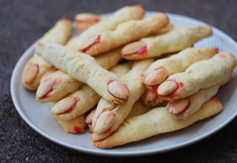 Рецепт песочного печенья на хеллоуин «пальцы ведьмы»