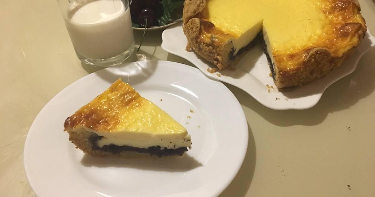 Пирог на сметане со сливами