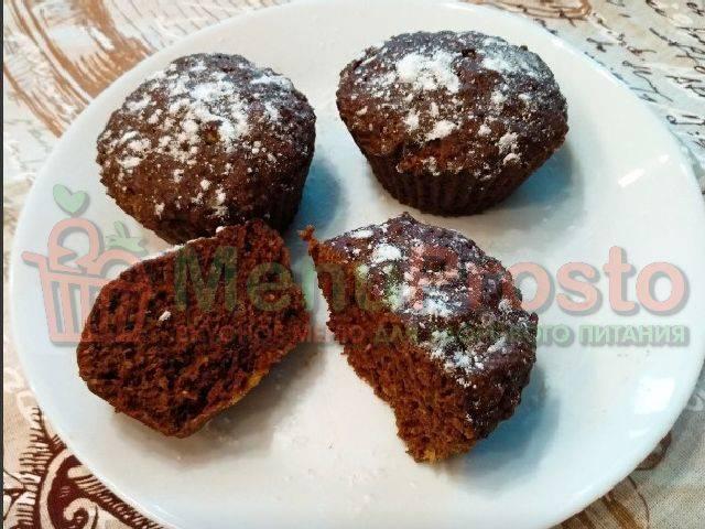 Быстрые шоколадно-банановые кексы