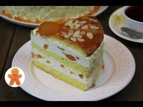 Бисквитный рулет с творожным кремом и персиками - рецепт с фотографиями - patee. рецепты