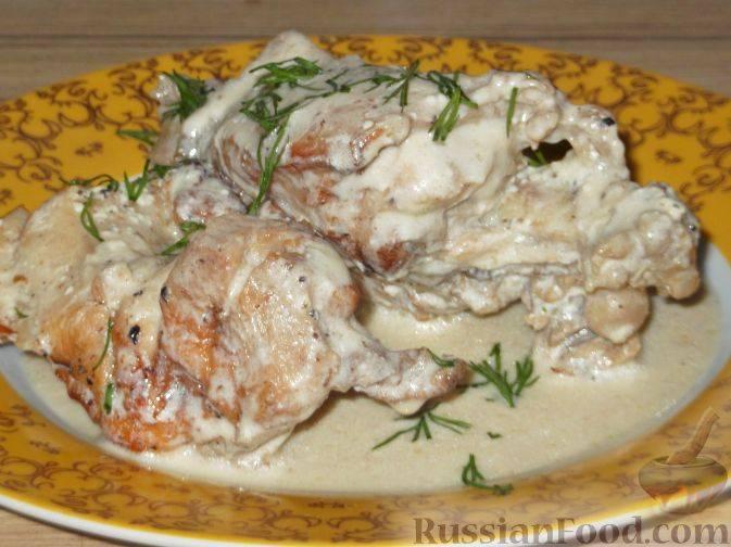 Кролик с грибами в сметане - пошаговый рецепт с фото |  разное