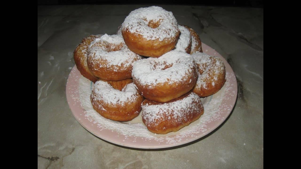 Пончики жареные в масле сладкие