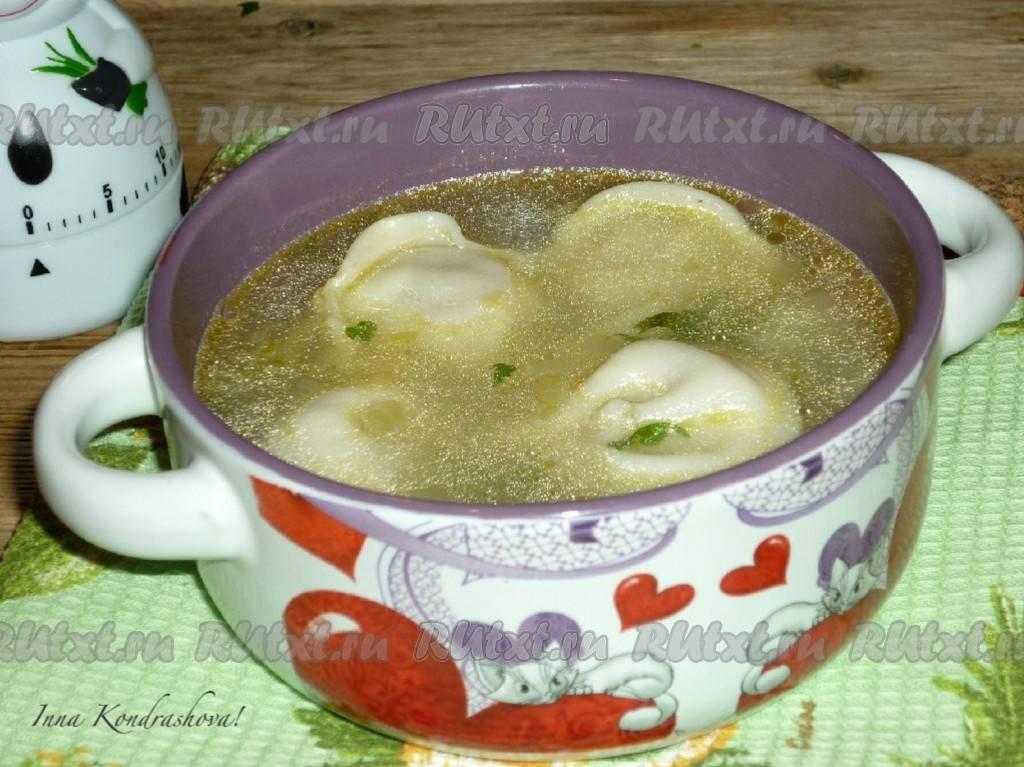 Овощной суп с ленивыми пельменями