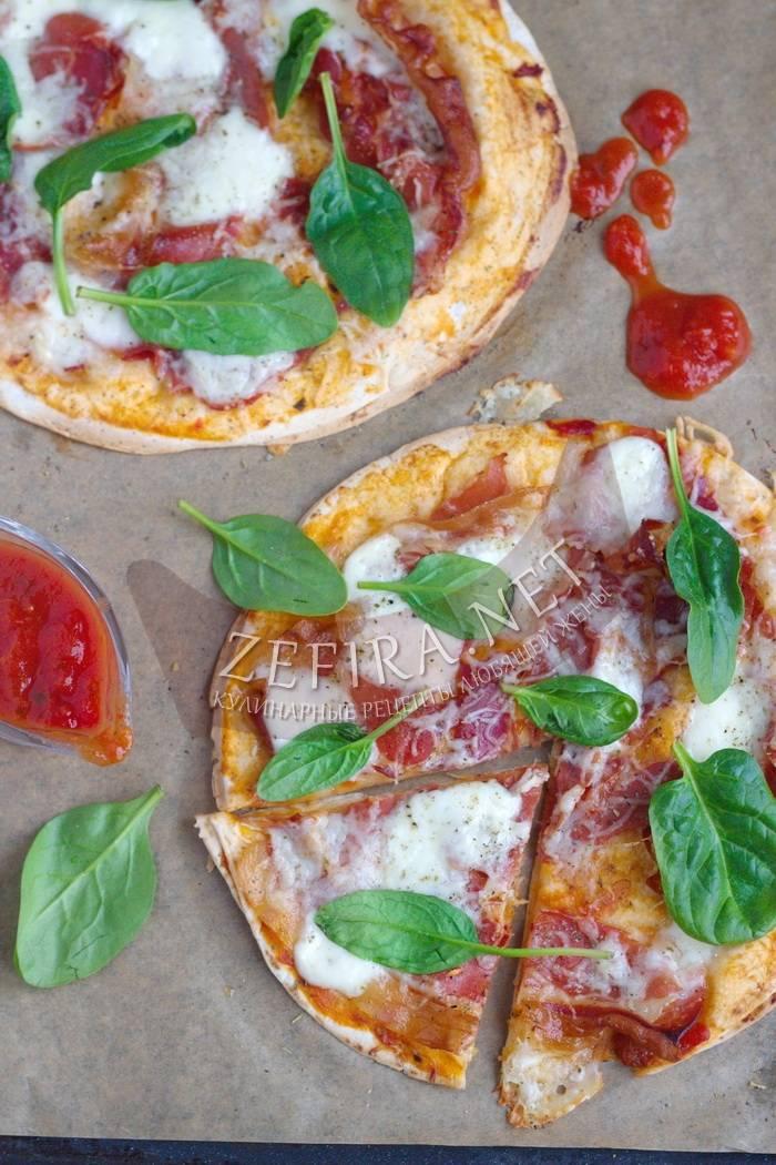 Пицца из лаваша на сковороде— 6 супер-быстрых рецептов