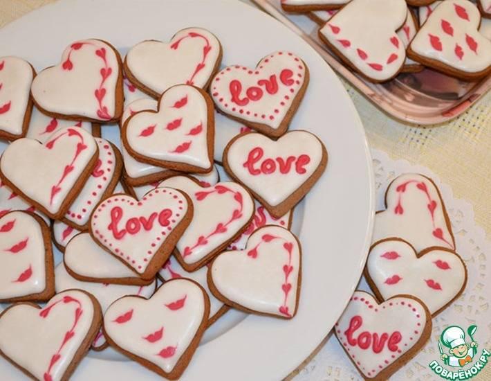 """Печенье """"сердечки"""" в форме"""