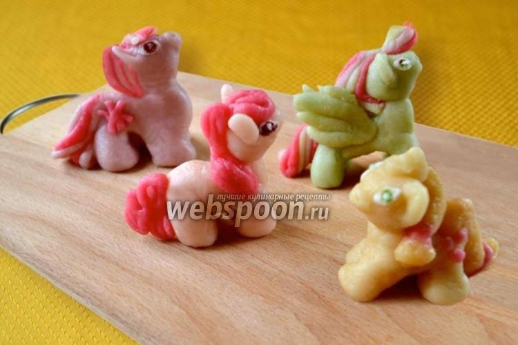 Фигурки из марципана рецепт с фото на webspoon.ru