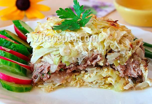 Салат из капусты и кабачков
