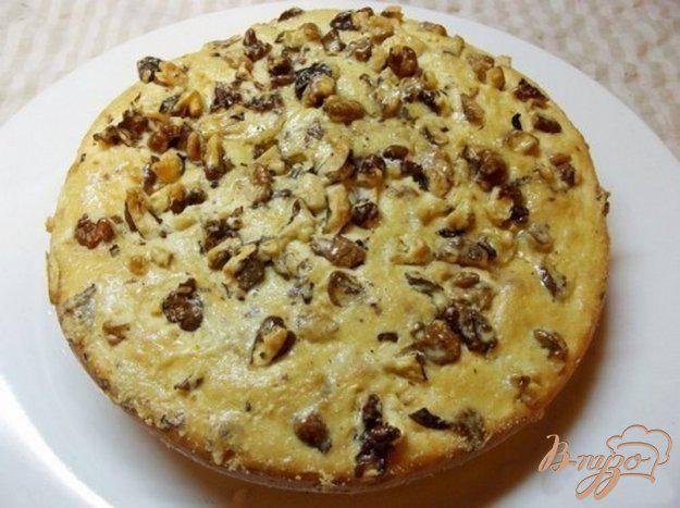 Кекс с грецкими орехами без яиц