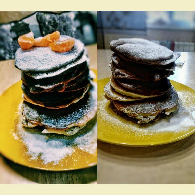 Рецепт шоколадных панкейков - 9 пошаговых фото в рецепте