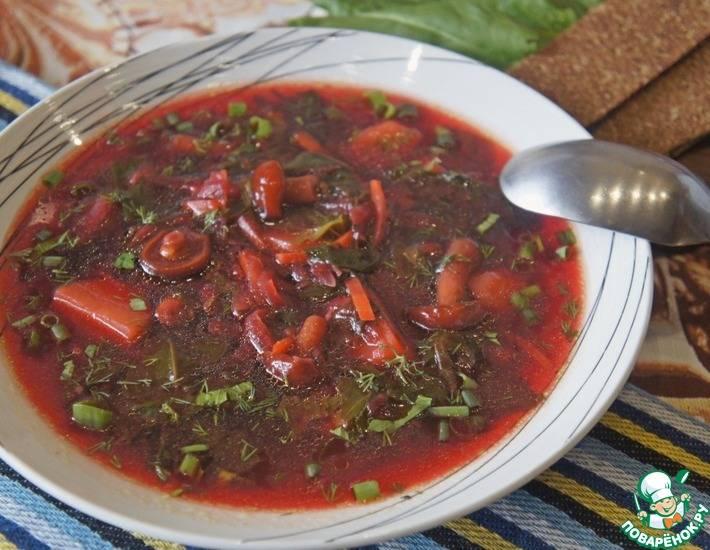 Борщ со шпинатом рецепт