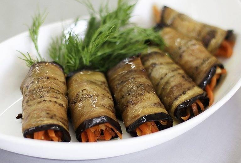 4 быстрых рецепта закуски из баклажанов с морковью по-корейски
