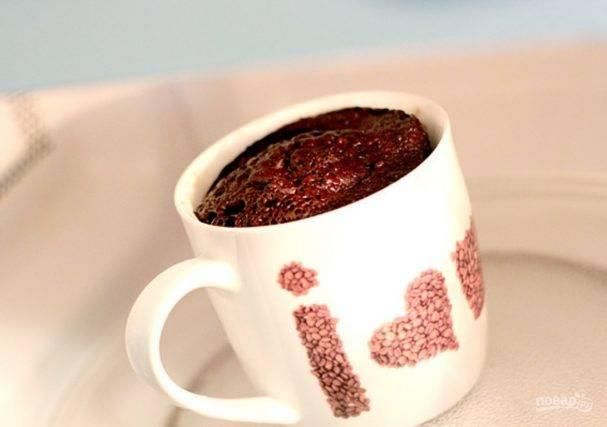 Кекс в кружке в микроволновке за 5 минут: топ-5 пошаговых рецептов с фото