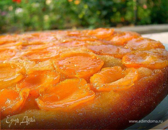 Шоколадный абрикосовый пирог