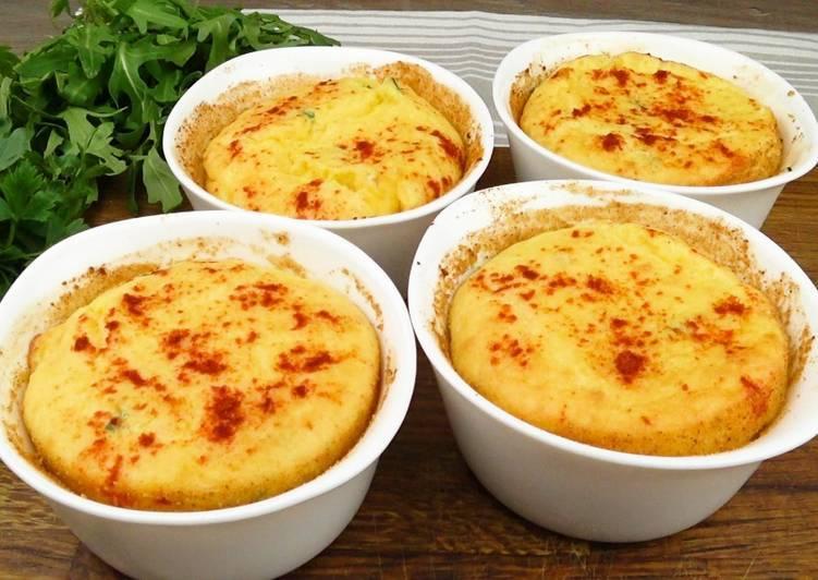 Картофельное суфле с сыром чеддер