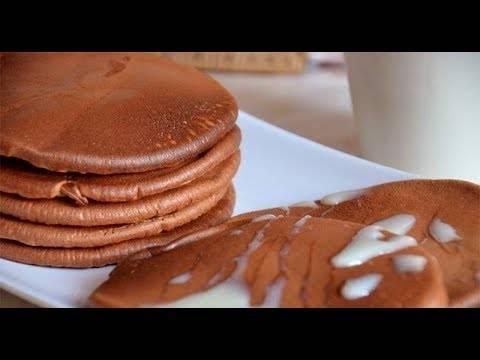 Панкейки с шоколадной начинкой