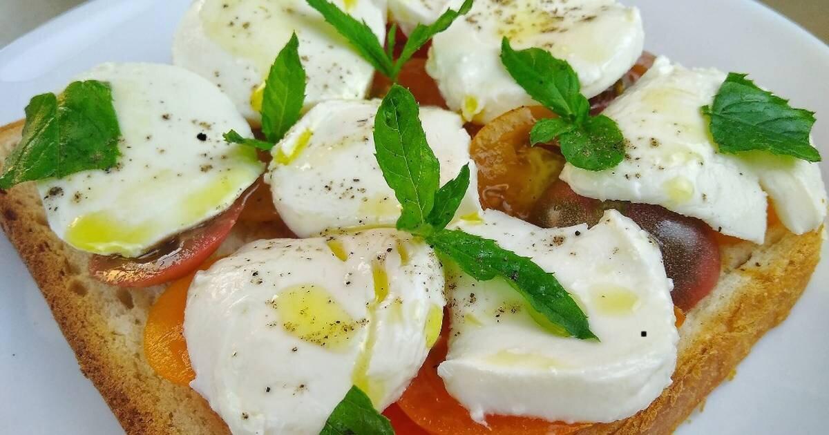 Брускетта с моцареллой и помидорами черри - рецепт с фотографиями - patee. рецепты