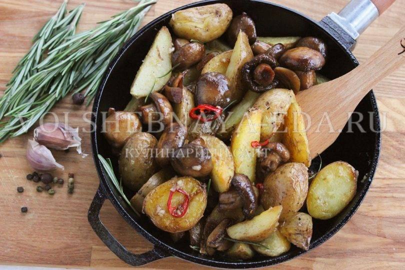 Как вкусно приготовить жареные опята с картошкой