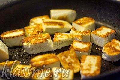 Как жарить сыр четук на сковороде