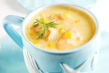 Кукурузный суп с кокосовым молоком