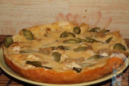 Пицца с фаршем без сыра и майонеза в мультиварке